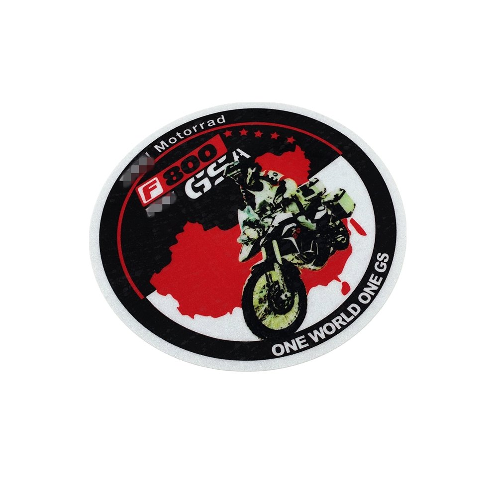 Langersun 1PCS Car Styling Decals ONE World ONE GS Motorcycle Oil Tank Body Side Box Sticker for F800 Motorrad GS Adventure 12x12cm