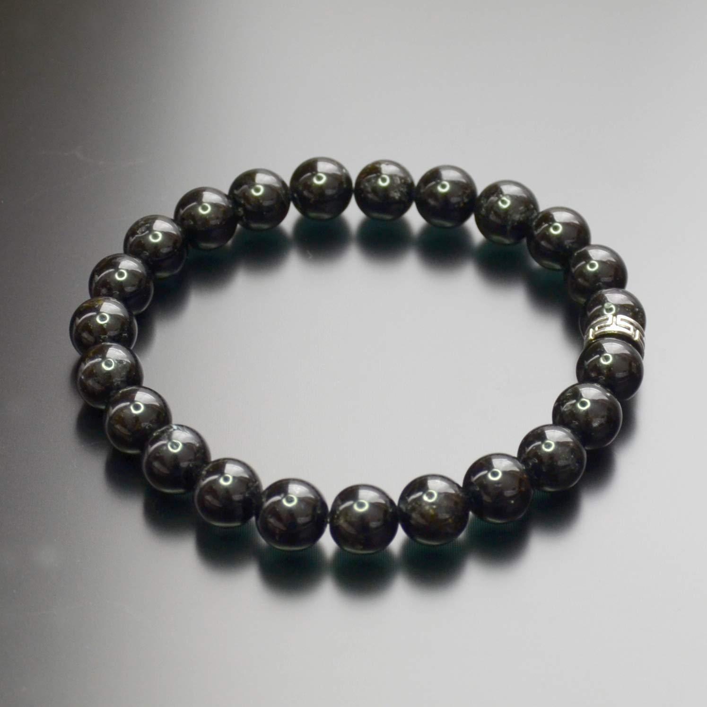 Black Tourmaline Bead Bracelet Chakra Energy Healing Protection Relieves Stress Anxiety Gift for Men & Women 8mm 61DvSsTByuL