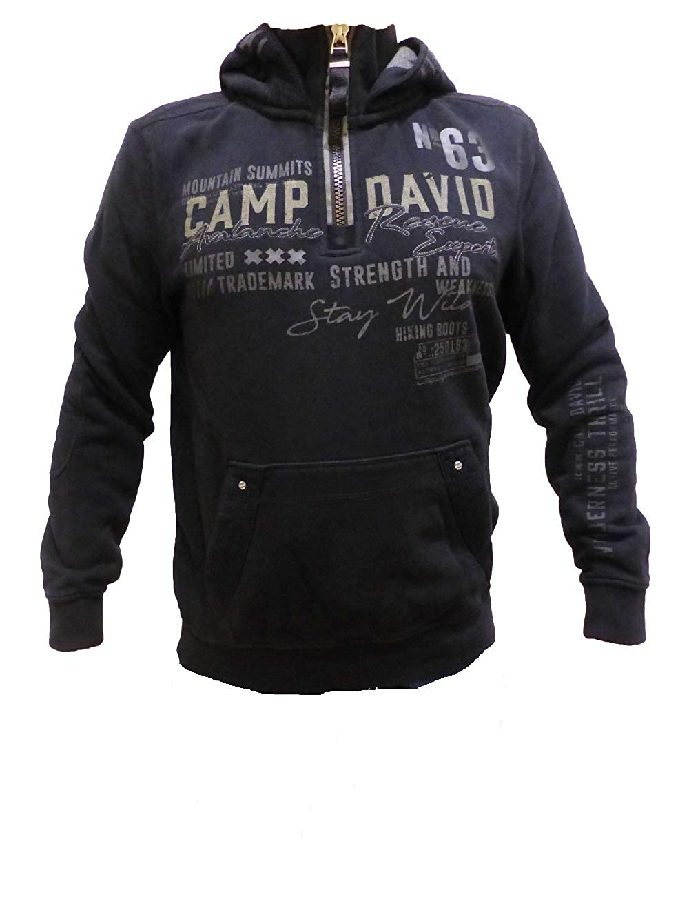 presenting another chance on feet images of Camp David Sweatshirt with Hood Alpine Lifeguard II Black CCG-1810-3824