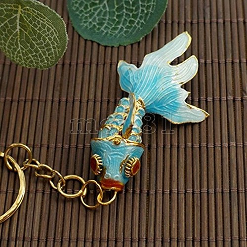 loisonne Enamel Chinese Gold Fish Figurine Ornament Gift (Gold Enamel Fish)