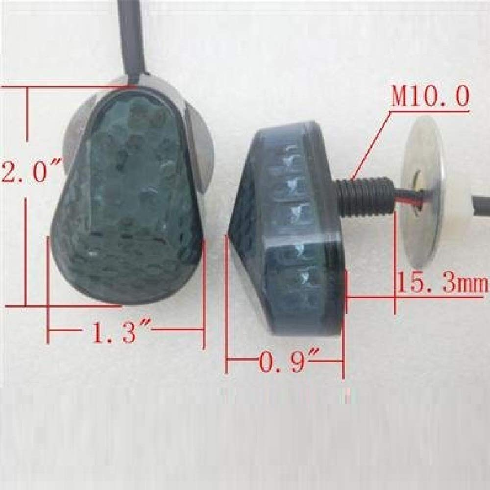cat1986cat1986/® Smoke LED Flush mount Turn Signal For Aftermarket 1996-2003 Kawasaki Ninja ZX7R ZX 7R 97 98 1998-2006 Ninja ZX6R ZX 6R 636 ZX10R ZX12R ZX9R ZZR600 cat1986cat1986® cat1986cat1986e230