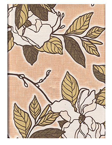 Town & Country Living Cooking Light Home Savannah Apricot Magnolia Flowers Easy Care Flannel Backed Vinyl PEVA Tablecloths (70 in Round)