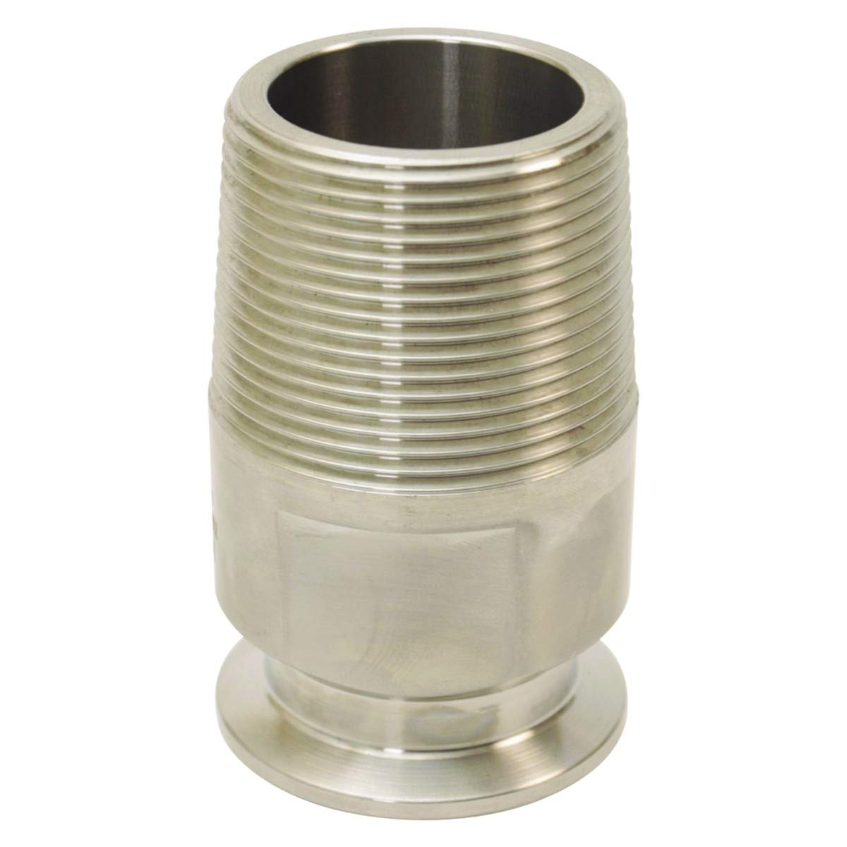 Threaded Barrel Tap | Tri Clamp 1.5 inch for 1.75 in. Bung Hole - Stainless Steel SS304 - Glacier Tanks - (2 Pack)