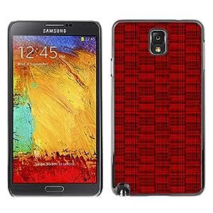 iKiki-Tech Estuche rígido para Samsung Galaxy Note 3 N9000 - Red Lines