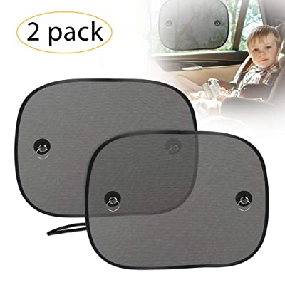 UBEGOOD Car Window Shade, Car Side Window Sun Shade for Baby with Suction Cups, Double-Layer Mesh Sun Block to Protect Kids Pets from Sun/UV Rays, Fits Most Cars/SUVs(2 Pack): Automotive