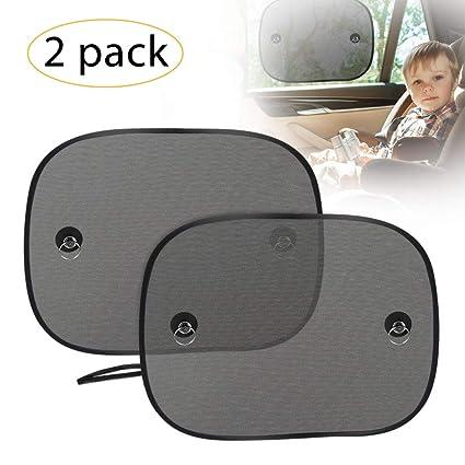 2x Baby Sonnenschutz Kinder Sonnenblende für Auto Seitenfenster Seitenscheiben