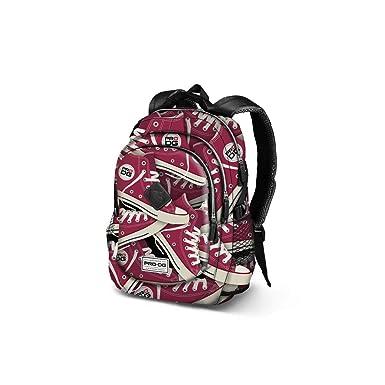 PRO-DG Mochila chico bolsa de ocio escolar burdeos tracks USB port VZ898: Amazon.es: Ropa y accesorios