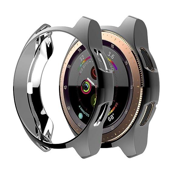 iHYQ Case for Samsung Galaxy Watch 42mm,TPU Scractch-Resist Frame Shock-Proof All-Around Protective Bumper Shell Protective Cover for Galaxy Watch ...
