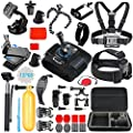 SmilePowo Sports Action Camera Accessory Kit for GoPro Hero6?5 Black,HERO (2018),Hero 5,4,3,Hero Session,GoPro Fusion,DBPOWER,AKASO,APEMAN,SJ CAM,Head Strap Camera Mount,Chest Mount Harness