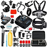 SmilePowo Sports Action Camera Accessory Kit for GoPro Hero6,5 Black - Hero 5 - 4 - 3 - 2 - 1,Session - GoPro Fusion,DBPOWER - AKASO - APEMAN - SJ CAM - XIAO YI - 2,Sony - Sports Camera