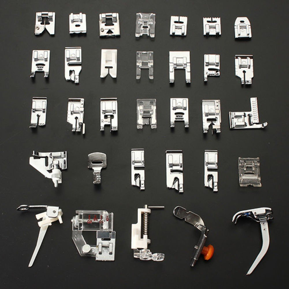 High Quality Set 32 Domestic Sewing Machine Foot Feet For Brother Singer Janome CYD