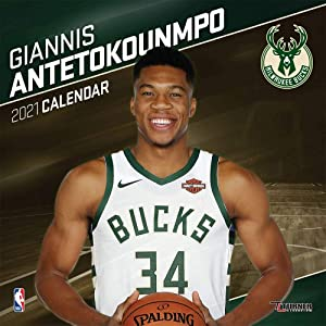 TURNER SPORTS Milwaukee Bucks Giannis Antetokounmpo 2021 Mini Wall Calendar (21998040629)
