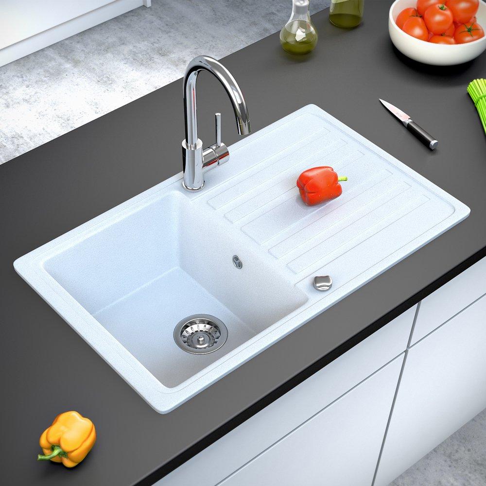 Spüle Granit Verbundspüle Küchenspüle Einbauspüle Auflage 760 x 460 ...