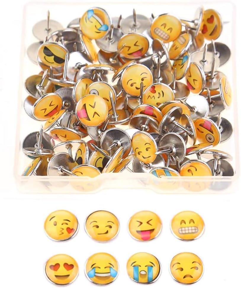 100 chinchetas de emoticonos para dibujo de emoticonos de cara
