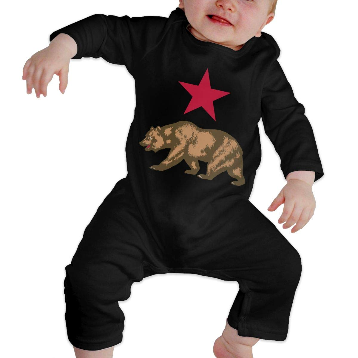Coat of Arms of East Timor Unisex Long Sleeve Baby Gown Baby Bodysuit Unionsuit Footed Pajamas Romper Jumpsuit