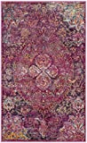 Safavieh Crystal Collection CRS512S Fuchsia Pink and Purple Distressed Bohemian Medallion Area Rug (3′ x 5′) Review