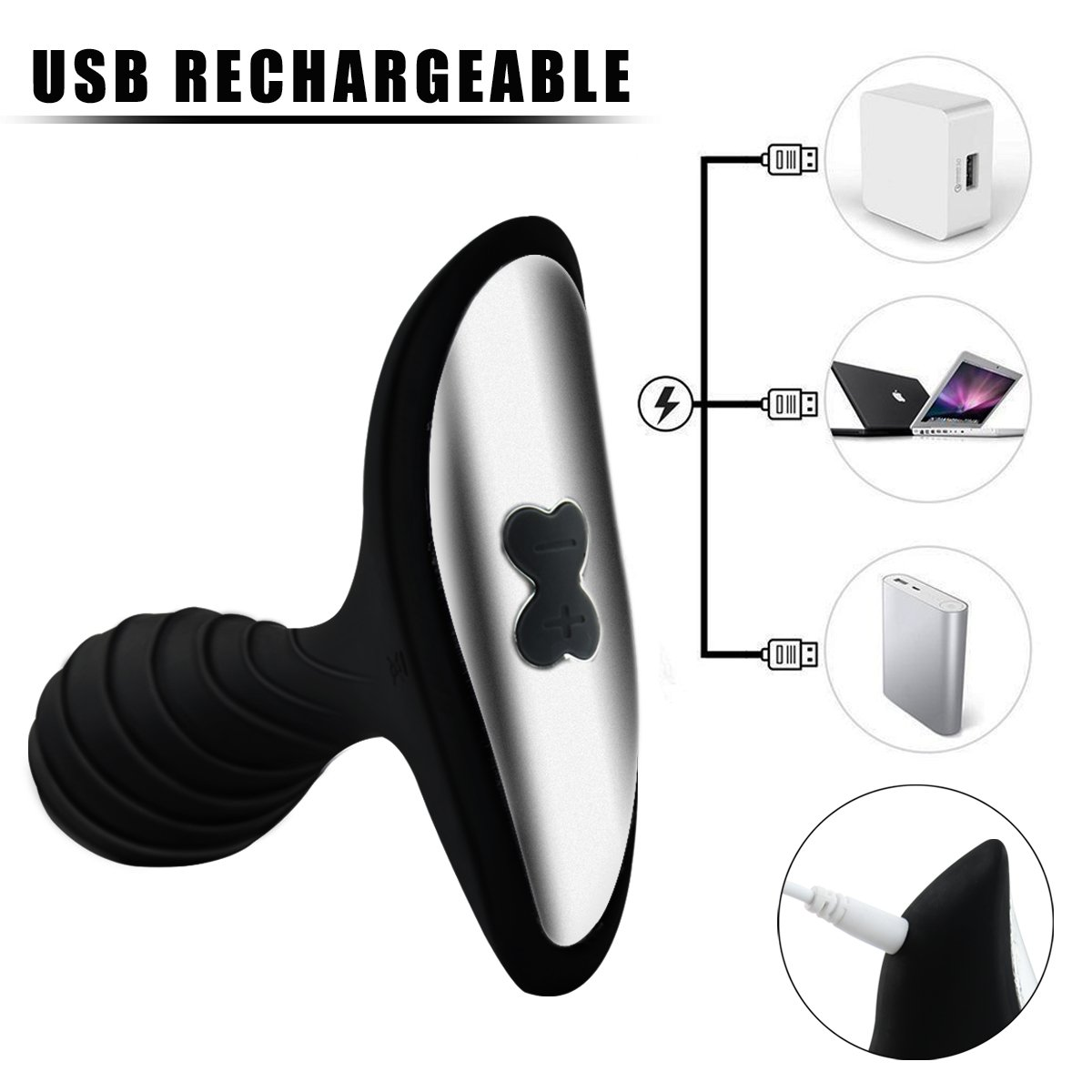 Anal Sex Toys with 10 Variable Vibration Modes for Safe AnalProstate Play, PALOQUETH Smooth Silicone Wireless Remote Butt PlugVibrator for Beginner Intermediate by PALOQUETH (Image #4)