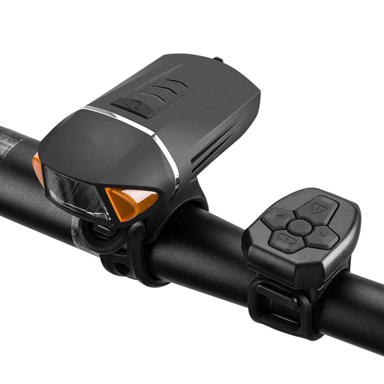 Remote Control Bicycle Light Headlights, with Horn Burglar Alarm, USB Charging Mountain Night Riding Equipment