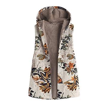 Mujer abrigo Invierno,Sonnena ❄ abrigo para mujer Patrón retro flores charm Caliente algodón ropa
