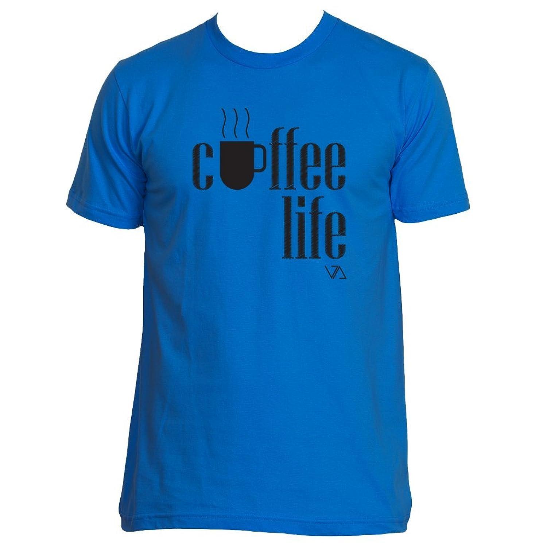 Voguish Apparel - Men's Coffee Life - Black Emblem T- Shirt
