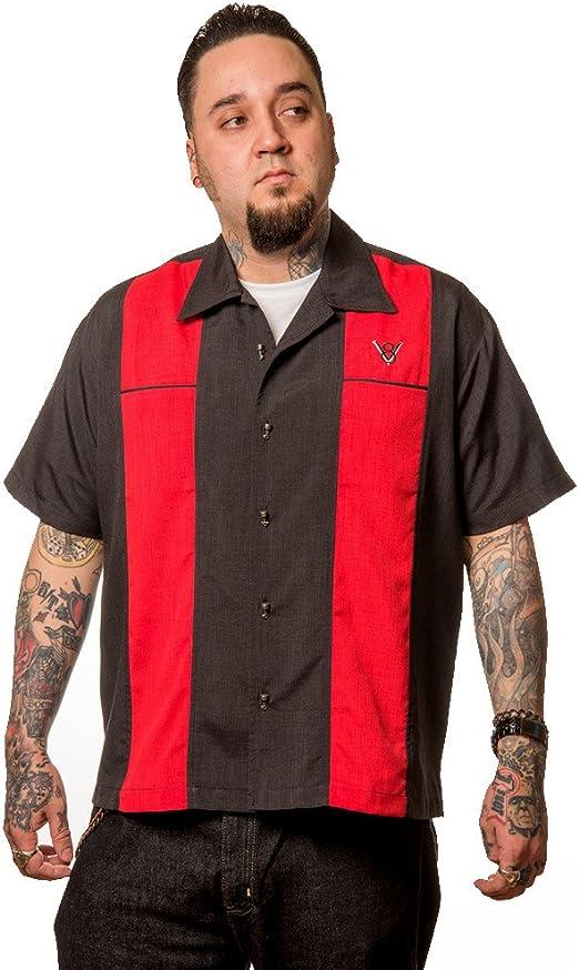 Steady Clothing V8 Classy Piston - Camisa de bolo para hombre, color rojo: Amazon.es: Ropa y accesorios