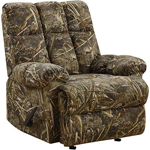 Accent Upholstered Rocker Recliner, Durable Construction, Foot Rest, Functional, Suitable Living Room, Family Room, Camouflage + Expert Guide