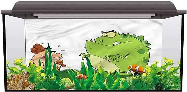 Amazon.com : Fish Tank Background Poster Jurassic, Caveman ...