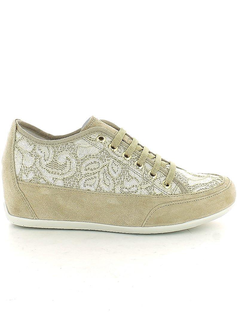 7787 BEIGE Scarpa donna scarpe da ginnastica Igi&co pelle made in italy