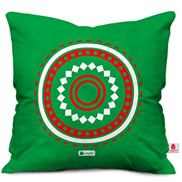 Amazon.com: indibni - Funda de almohada decorativa circular ...