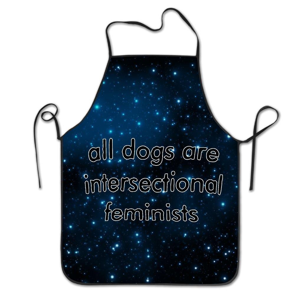 犬はすべてintersectionalフェミニスト調理シェフキッチンエプロン調節可能なよだれかけブラック   B07DN6GRYJ