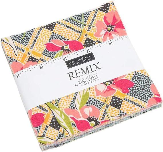 Remix Charm Pack por Jen Kingwell; Cuadrados de tela precortada de ...