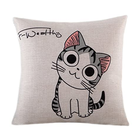 Amazon.com: Estilo de dibujos animados encantadora almohada ...