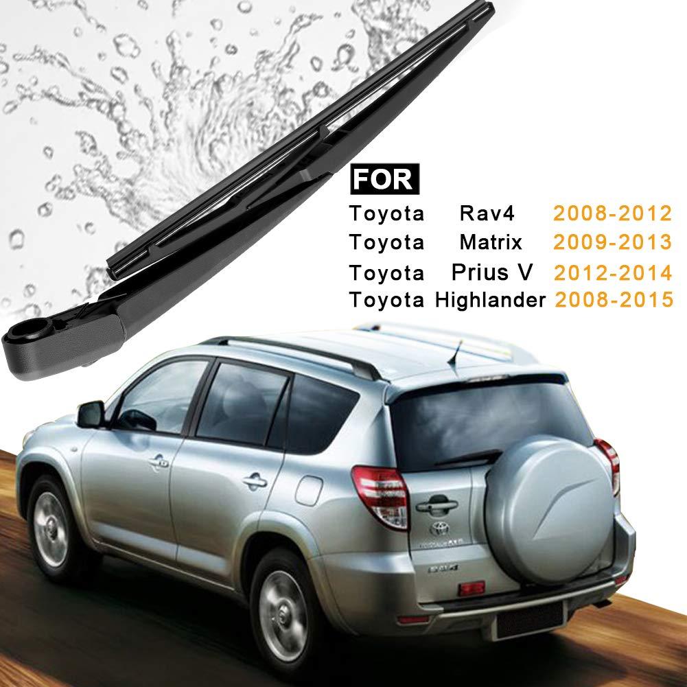 85241-42070 AUTOBOO For Toyota RAV4 2008-2012,Toyota Highlander 2008-2015,Toyota Prius V 2012-2014 Rear Windshield Wiper Blade Arm Set ;OE