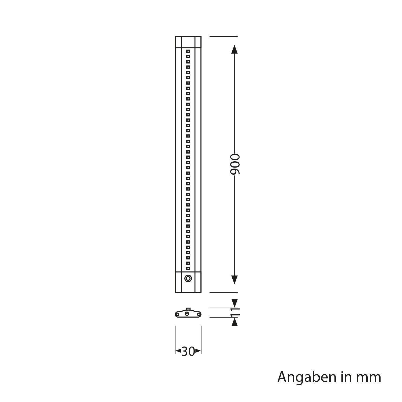800lm variateur tactil Lot de 2 Plat Blanche-Chaude Parlat LED luminaire sous Meuble Siris par 90cm