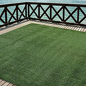 Outdoor Turf Rug in Green Artificial Grass In 8' X 20' And Many Other Sizes Available