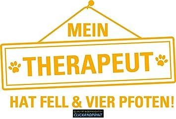 Clickandprint Aufkleber Mein Therapeut Hat Fell Vier
