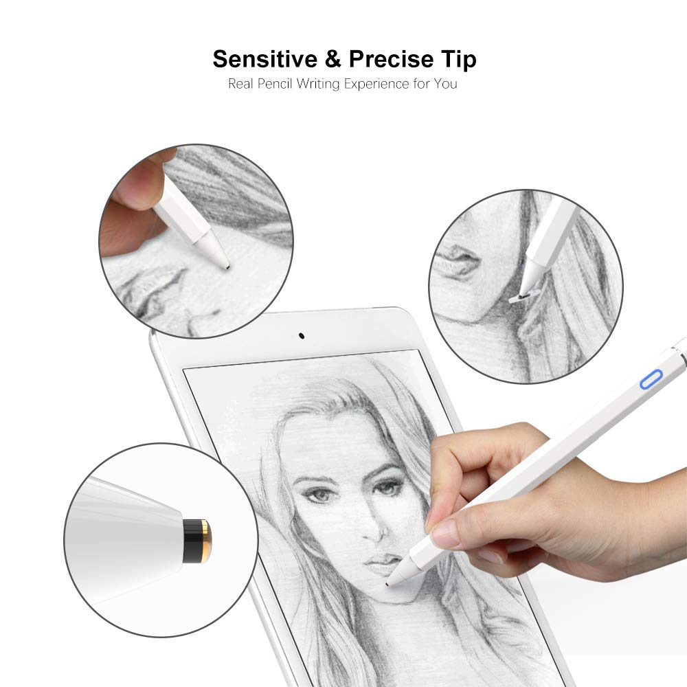 yoyomax Stylus Pens for Touch Screens, Fine Point Stylist Pen Pencil Compatible with iPhone iPad and Other Tablet by yoyomax (Image #2)