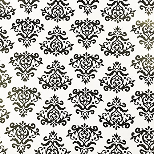 - SimpleLife4U Self-Adhesive Shelf Liner Removable Contact Paper for Covering Apartment Dresser Drawers, Retro Black Damask, 17.7 Inch By 9.8 Feet