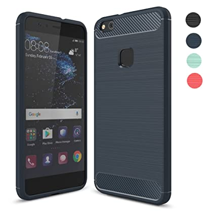 Amytech Fundass Carcasa Huawei P10 Lite 1.5 MM Grueso Gel Silicona Non-Slip Anti-Fingerprint Anti-Scratch Fundass Carcasa Case para Huawei P10 Lite