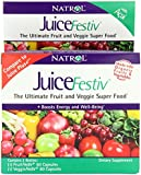 Natrol JuiceFestiv Dietary Supplement Capsules, 60 Count FruitFestiv & 60 Count VeggieFestiv (Pack of 2)