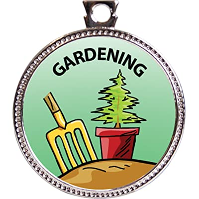 Keepsake Awards Gardening Award, 1 inch Dia Silver Medal Around The Home Collection: Toys & Games