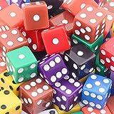 AUSTOR 100 Pieces Game Dice Set 10 Colors Square