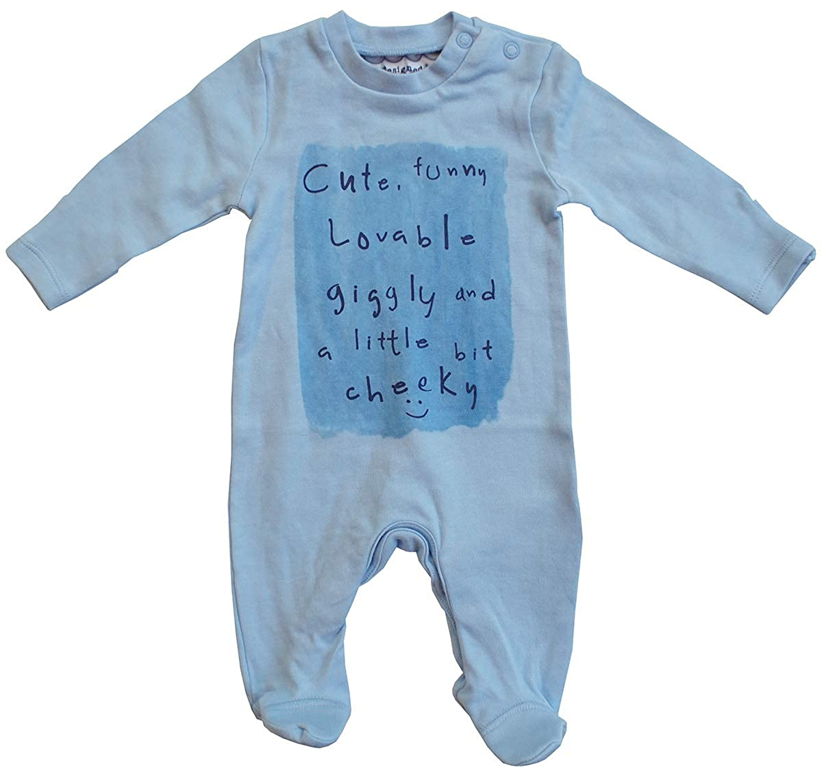 Get Wivvit Boys Baby Funny Cute Cheeky Sleepsuit Romper Prem Sizes from Tiny Newborn to 18 Months