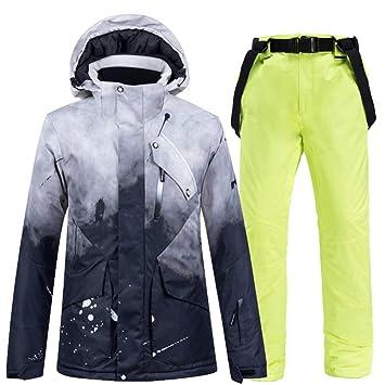 Conjuntos de traje de snowboard, -30 ° negro Ropa de nieve ...