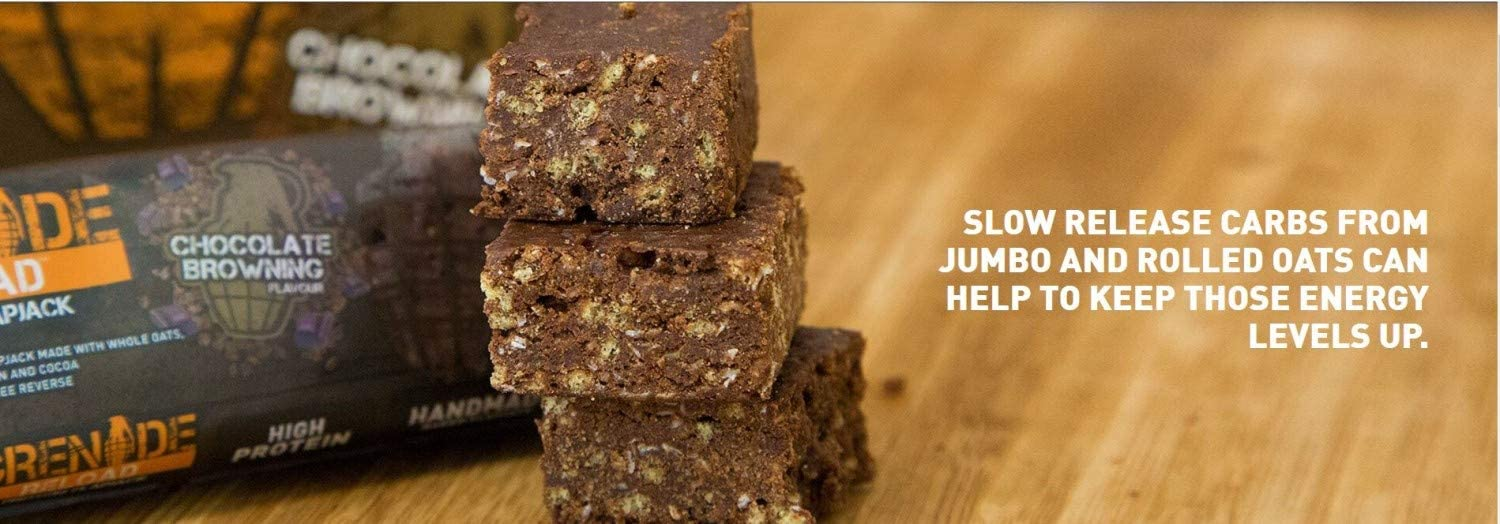 Grenade Reload Protein Flapjacks Chocolate Browning - 12 Barras ...
