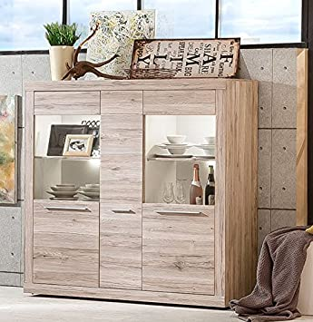 Beauty Scouts Highboard Marius Ii B H T Ca 148x150x41 Cm