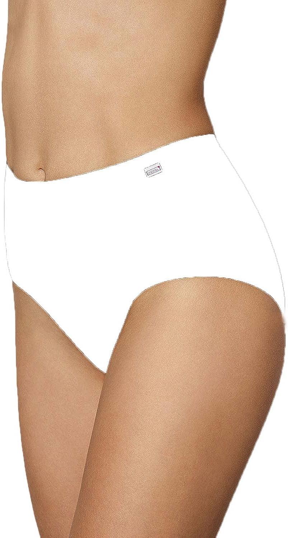 taglia 40-50 elastan confezione da 5/ colore bianco e nero Speidel Slip da donna con elastico in vita /Basic 9826/cotone