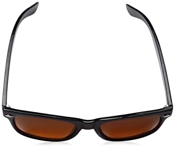 4253972fd6e19 Amazon.com  Blue Blocking Driving Wayfarers Sunglasses Amber Tinted Lens  8451  Clothing