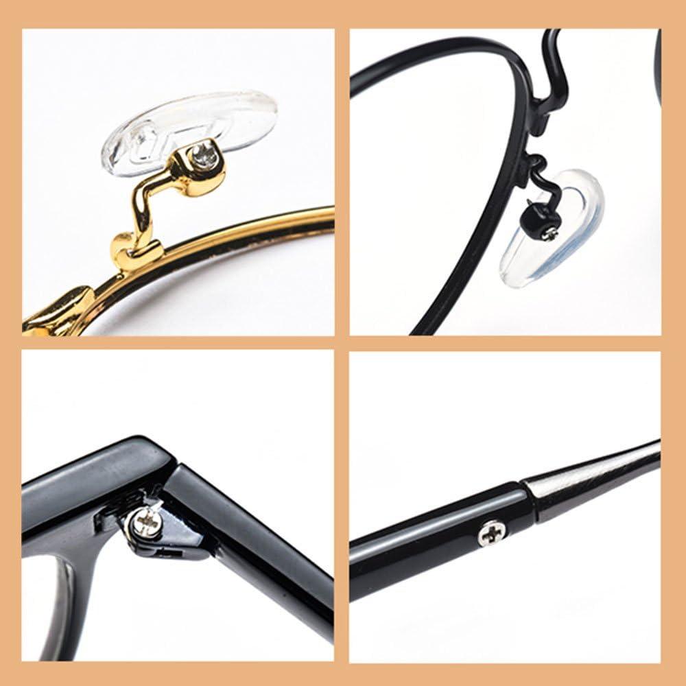 GOLRISEN Glasses Repair 500 PCS Glasses Screws and Nuts /& Silicone Nose Pads Assortment Repair Tool Kit Stainless Steel Glasses Screws Repair with Micro Screwdriver
