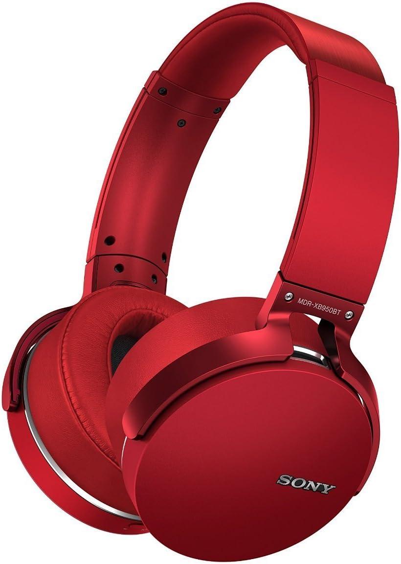 Sony Premium Wireless On-Ear Lightweight Splash-Proof Extra Bass Bluetooth Stereo Headset (Red)